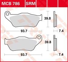 TRW Plaquettes de frein organique MCB786