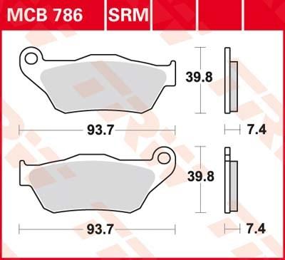 TRW Standaard remblokken MCB786