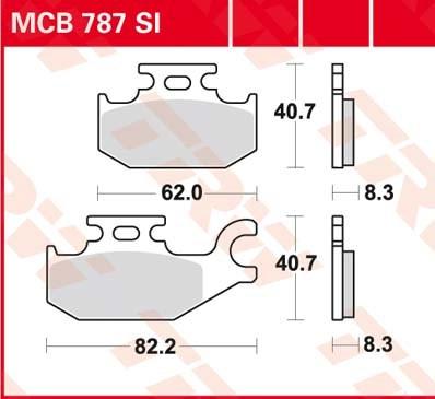 TRW SI Remblokken sinter metaal MCB787SI
