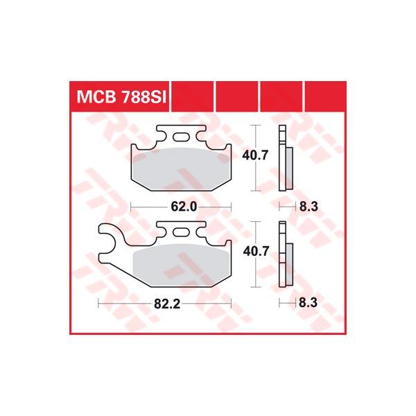 TRW SI Remblokken sinter metaal MCB788SI