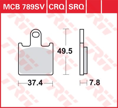 TRW CRQ remblokken MCB789CRQ