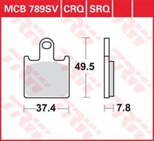 TRW Plaquettes de frein SRQ  MCB789SRQ