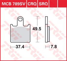 TRW Plaquettes de frein SV/SH MCB789SV