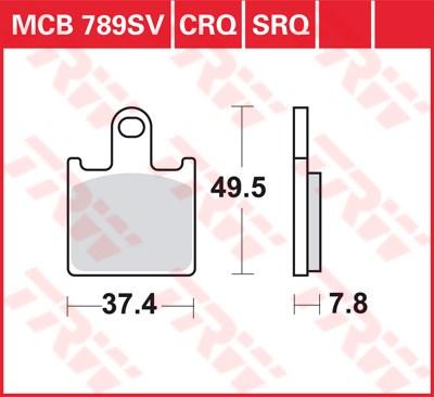 TRW SV/SH Remblokken MCB789SV