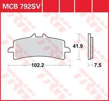 TRW Plaquettes de frein SRQ  MCB792SRQ