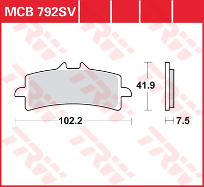 TRW SRQ remblokken MCB792SRQ