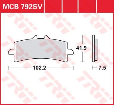 TRW SV/SH Remblokken MCB792SV