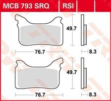 TRW Plaquettes de frein RSI MCB793RSI