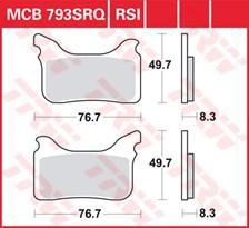 TRW Plaquettes de frein SRQ  MCB793SRQ