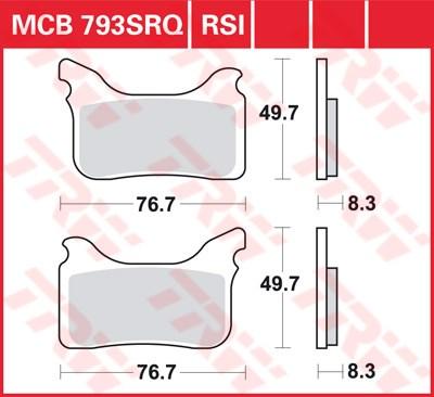 TRW SRQ remblokken MCB793SRQ