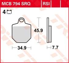 TRW Plaquettes de frein RSI MCB794RSI