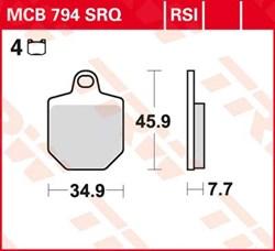 TRW RSI remblokken