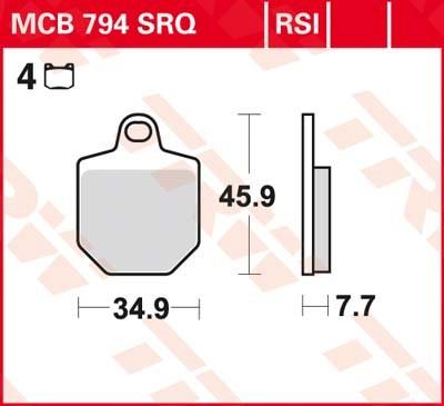 TRW RSI remblokken MCB794RSI
