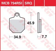 TRW Plaquettes de frein SRQ  MCB794SRQ