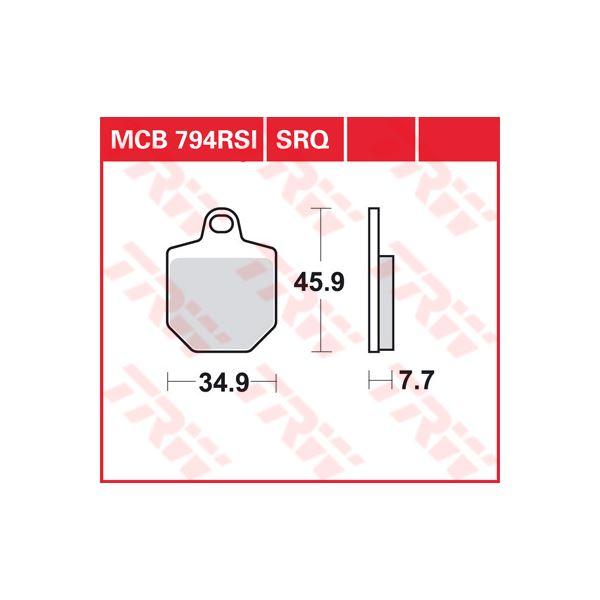TRW SRQ remblokken MCB794SRQ