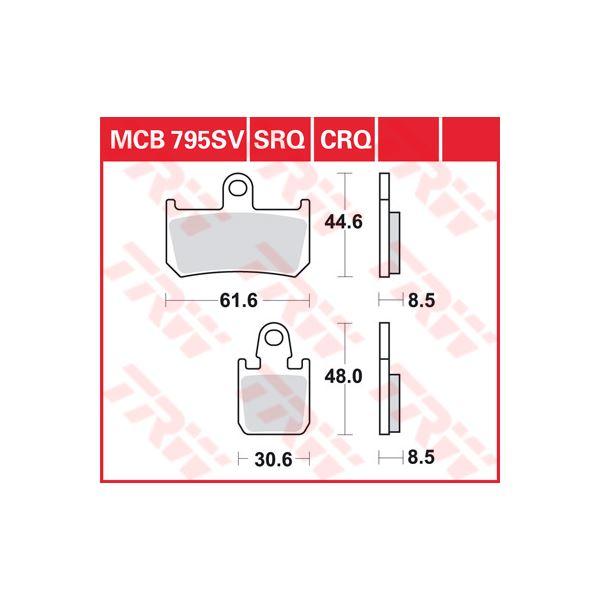 TRW SRQ remblokken MCB795SRQ
