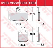 TRW SV/SH Remblokken MCB795SV