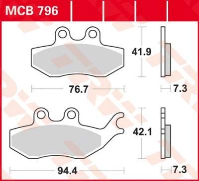 TRW Standaard remblokken MCB796