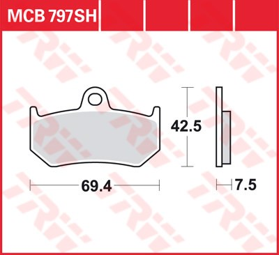 TRW SV/SH Remblokken MCB797SH
