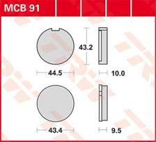 TRW Plaquettes de frein organique MCB91