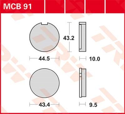 TRW Standaard remblokken MCB91