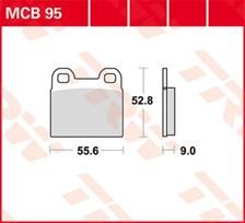 TRW Plaquettes de frein organique MCB95