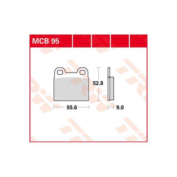 TRW Standaard remblokken MCB95