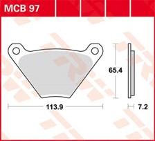 TRW Plaquettes de frein organique MCB97