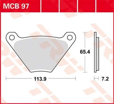TRW Standaard remblokken MCB97