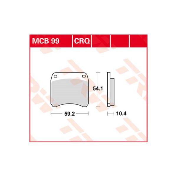 TRW Standaard remblokken MCB99