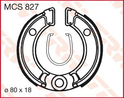 TRW Remschoenen MCS827