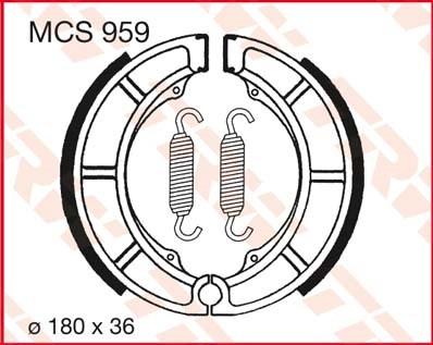 TRW Remschoenen MCS959