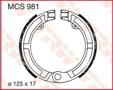 TRW Mâchoires de freins MCS981