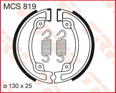 TRW Remschoenen MCS819
