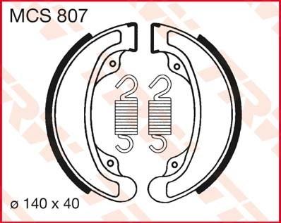 TRW Remschoenen MCS807