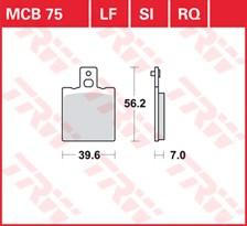 TRW Plaquettes de frein qualité racing MCB075RQ