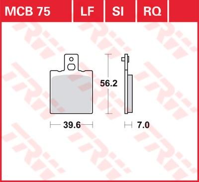 TRW racing quality remblokken MCB075RQ