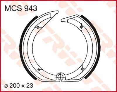 TRW Remschoenen MCS943