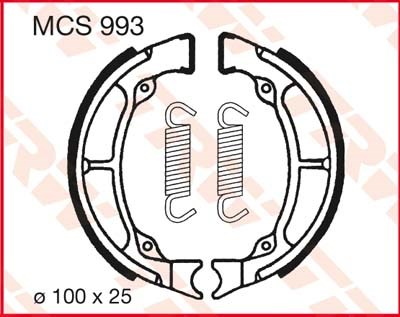 TRW Remschoenen MCS993