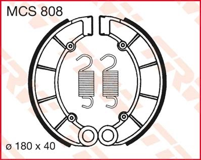 TRW Remschoenen MCS808