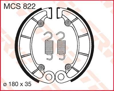 TRW Remschoenen MCS822