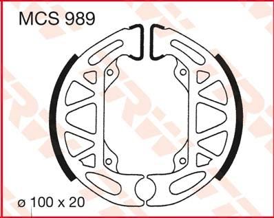TRW Remschoenen MCS989