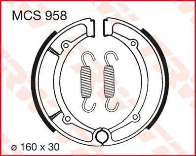 TRW Remschoenen MCS958