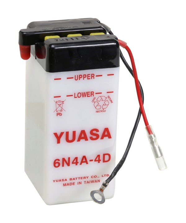 YUASA Conventionele batterij 6N4A-4D