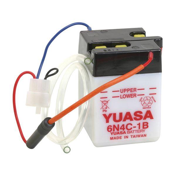 YUASA Conventionele 6V batterij 6N4C-1B