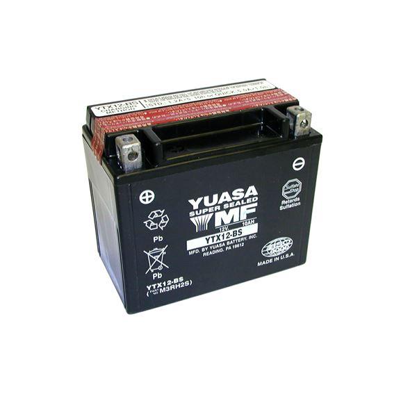 YUASA Onderhoudsvrije batterij YTX12-BS