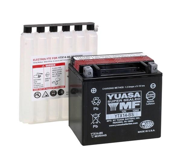 YUASA Onderhoudsvrije batterij YTX14-BS