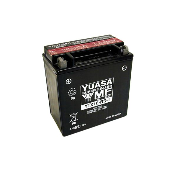 YUASA Onderhoudsvrije batterij YTX16-BS-1
