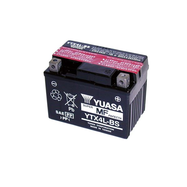 YUASA Onderhoudsvrije batterij YTX4L-BS