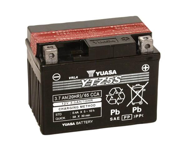 YUASA Gesloten batterij onderhoudsvrij YTZ5S